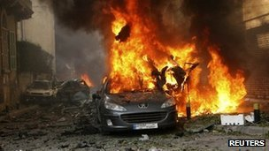 A car bomb blast has killed at least two people in Sassine Square in Beirut
