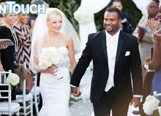 Alfonso Ribeiro and Angela Unkrich were married Saturday at the Lakeside Golf Club in Burbank