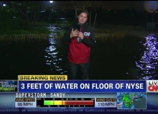 CNN wrongly reported that NYSE was flooded with 3 feet of water following the worst of Hurricane Sandy