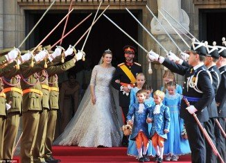 Crown Prince Guillaume of Luxembourg and Countess Stephanie de Lannoy royal wedding