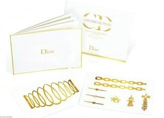 Dior Grand Bal Golden Tattoos sets were made for the brand's Christmas theme based around the idea of a 17th Century Grand Ball