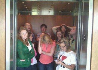Elevator travelers always avoid eye-contact