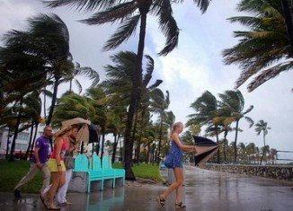"""Hurricane Sandy could merge with a winter storm to create what they have dubbed """"Frankenstorm"""" as it churns towards the US"""