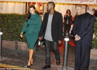 Kanye West whisked Kim Kardashian out to a romantic restaurant in Rome on Thursday night