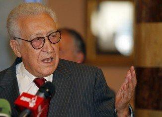 Lakhdar Brahimi has had talks in Turkey amid rising tensions between Ankara and Damascus