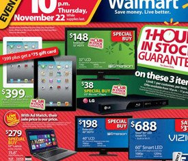 2012 Black Friday sales will have Wal-Mart throwing open their doors earlier than ever before