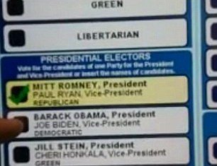 An electronic voting machine in Pennsylvania has been removed from service after it changed votes for Barack Obama into those for Mitt Romney