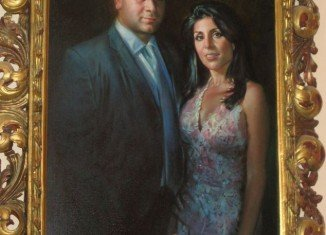 An oversized painted portrait of Florida socialite Jill Kelley and her surgeon husband Scott is hanging on the wall of their $1.3 million Bayshore Boulevard mansion