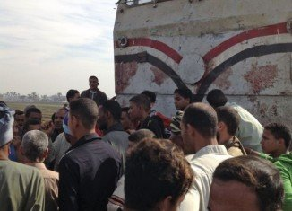 At least 47 children aged four to six years old have been killed after their school bus was hit by a train near Manfalut, central Egypt