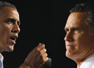 Barack Obama and Mitt Romney have spent the day before the election visiting key swing states and making final pitches to voters