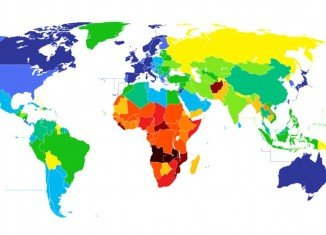 CIA World Factbook color-coded map reveals the startling difference in life expectancies across 222 of the world's countries