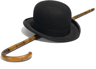 Charlie Chaplin's iconic hat and cane that accented his costume in Little Tramp has sold for $62,500 at an auction in Los Angeles