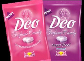 Deo Perfume Candy contains chemical compounds that cannot be broken down by the body and so are excreted through the skin