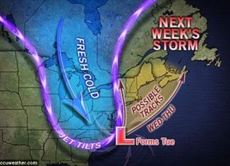 East Coast line is expected to face a nor'easter winter storm from Tuesday to Thursday, potentially casting a shadow over Election Day