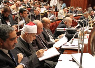 Egypt's Islamist-run assembly has backed a draft constitution, including a measure keeping sharia as the main source of legislation