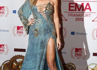 Heidi Klum changed six outfits as the hostess of MTV EMA's in Frankfurt