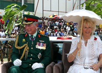 Prince Charles and the Duchess of Cornwall have been given a glimpse of village life in Papua New Guinea