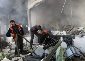 The Israeli military and militants in Gaza are continuing to trade fire, with the round of violence that has followed Israel's killing of Hamas's military chief showing no sign of abating