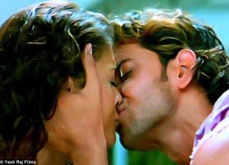 Aishwarya Rai Bachchan had her first screen kiss with actor Hrithik Roshan in Dhoom 2 in 2006