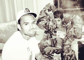 Chris Brown further fueled rumors of a rekindled romance with his ex-girlfriend Rihanna