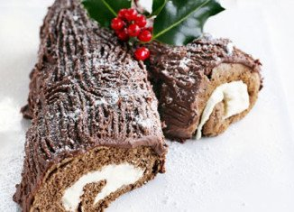 Christmas chocolate log