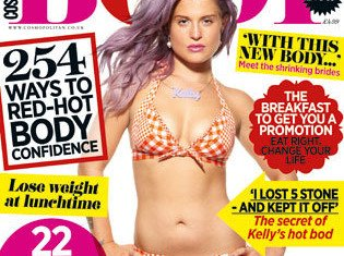 Kelly Osbourne has stripped off to reveal her impeccable bikini body as she graces the cover of Cosmopolitan Body after losing 69 lbs
