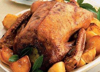 Roast goose with sage