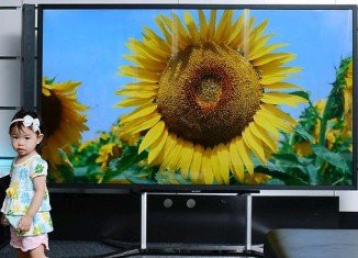 Sony is releasing its first ultra-high-definition TV, a massive 84-inch set that retails for $25,000