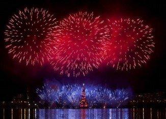 The famous Lagoa Christmas tree in Rio de Janeiro is a 28-storey glittering behemoth of 2012 seasonal kitsch