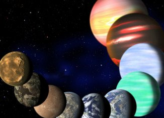 Artistic illustration of different types of planets in the Milky Way detected by NASA Kepler spacecraft