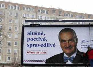 Former Czech Prime Minister Milos Zeman faces Foreign Minister Karel Schwarzenberg in the second round of presidential election