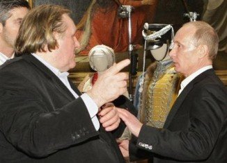 Gerard Depardieu has arrived in Russia, where he has been granted citizenship and a private meeting with President Vladimir Putin