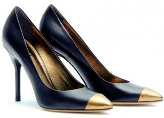 Gold-capped shoes trend was revived at London Fashion Week's Autumn-Winter 2013 shows once sparked decades ago by Coco Chanel
