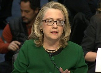 Hillary Clinton is giving evidence to Congress over the deadly attack on the US consulate in Benghazi