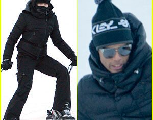Madonna has been celebrating the new year on the slopes with her children and her Brazilian boyfriend Brahim Zaibat and has been getting quite a bit of action on her skis