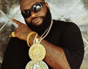 Rick Ross narrowly saved his life after his Rolls Royce was sprayed with bullets and crashed into an apartment building as he celebrated his 37th birthday