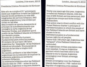 The Sun has taken out an advert in an English-language paper in Argentina defending Britain's right to govern the Falkland Islands
