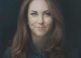 The first official painting of Kate Middleton has been unveiled this morning at London's National Portrait Gallery