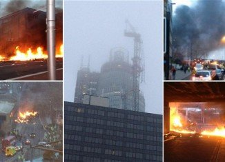 Two people have been killed and thirteen injured when a helicopter crashed into a crane in central London
