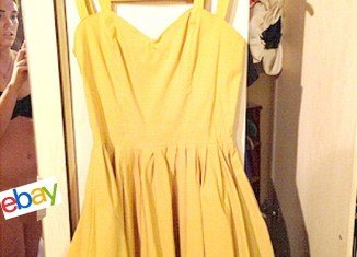 eBay seller Aimi Jones revealed her horror at accidentally including a naked view of herself when she posted a picture of a dress for sale on the website