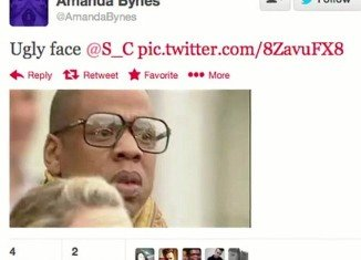 """Amanda Bynes branded Jay-Z """"ugly face"""" on her Twitter page"""