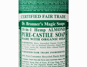 Dr. Bronner's 18-in-1 liquid soap is a cheap beauty weapon used by stars like Lady Gaga, Gwyneth Paltrow and Drew Barrymore