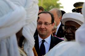 France's President Francois Hollande is visiting Mali, three weeks after French-led troops launched an offensive to oust Islamist rebels from the country's north