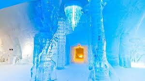 Hôtel de Glace in Quebec, Canada, is a palatial building constructed entirely out of ice (Photo Xavier Dachez)