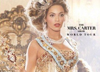 """Live Nation's site put up a promotional poster for Beyonce's not-yet-announced world tour dubbed """"The Mrs. Carter Show"""""""