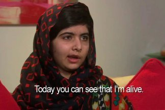 Malala Yousafzai described how a fund has been set up in her name to help all children get an education