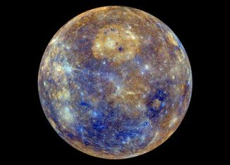 NASA's Messenger probe to Mercury has shown off a stunning new color map of the planet