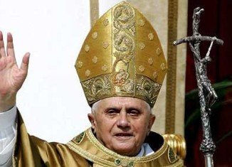 One unconfirmed report suggested Pope Benedict had resigned after being presented with a dossier detailing a network of priests who were being blackmailed