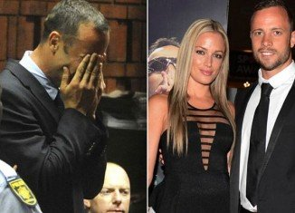 Oscar Pistorius' family said on Tuesday that the athlete held a private memorial service for Reeva Steenkamp at his uncle Arnold's home in Pretoria