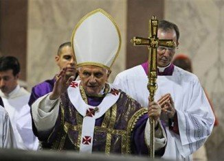 Pope Benedict XVI has held his last Mass as Pope in St Peter's Basilica in Rome following the shocking announcement of his resignation